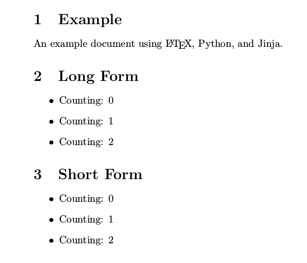 LaTeX templates with Python and Jinja2 to generate PDFs | Brad Erickson